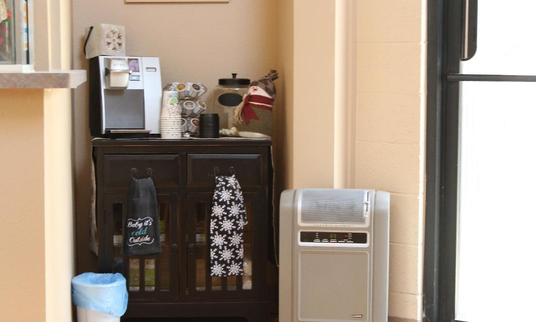 beverage station at Lusk Family Dentistry | dentist farmington nm
